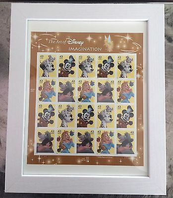 ART Of DISNEY IMAGINATION FRAMED MINT SHEET of 20 STAMPS Collector Gift Boy Girl
