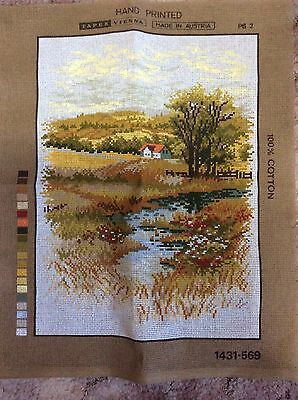 Tapestry Canvas Country Scene 30cm x 40cm