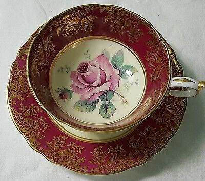 Paragon Cup And Saucer Big Rose