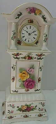 Royal Albert Old Country Roses Tall Grandfather Clock