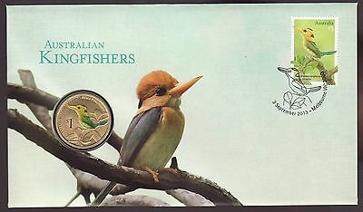 2013Australian  PNC: Kingfishers -  Coin and Stamp Pack