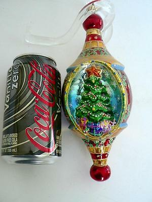 "Radko 9"" Huge Christmas Tree Indent Drop Holly Ornament"