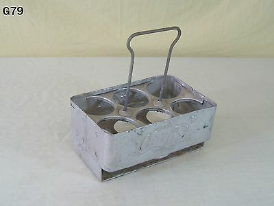 Vintage Coca Cola Coke Soda Pop Advertising Metal Bottle Carrier Caddy Old Piece