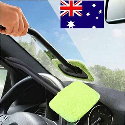 Windshield Windscreen Wonder Wiper Car Glass Window Cleaner 2 Microfiber Pads OP