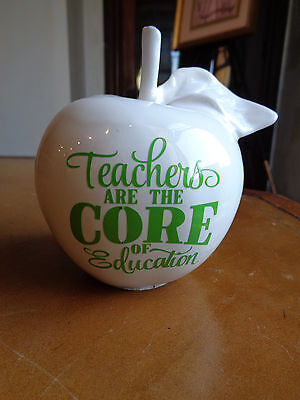 Ceramic vintage TEACHERS ARE THE CORE OF EDUCATION - Apple - Gift - Nostalgia