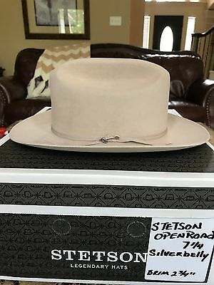 "STETSON ""OPEN ROAD PROMO"" SILVERBELLY WESTERN HAT SIZE 7 1/4 ""It's Rodeo Time"" !"