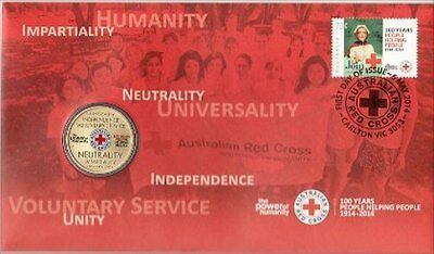 2014 Australian PNC: RRed Cross Coin and Stamp Pack