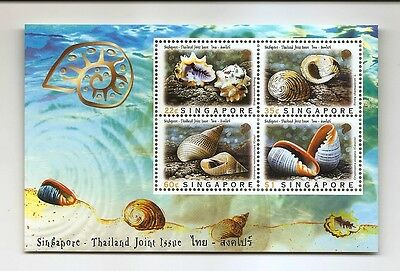 SINGAPORE Shells S/S  Joint Issue 1997 MNH SG MS 912