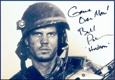 Aliens (1986) Cast Signed by Bill Paxton / Private 'Game Over' Hudson (REPRINT)