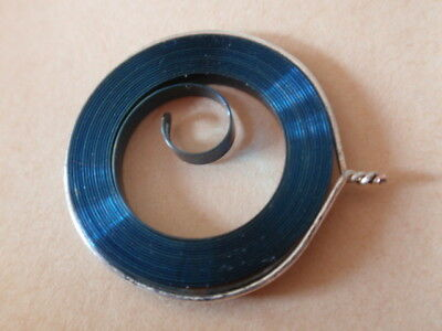 Pocket Watch MAIN SPRINGS 19/6, Blue Steel 2.54 Wide x 0.10 Thick x 775 Long