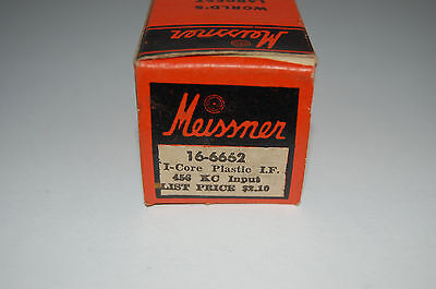 Vintage Meissner IF Coil 16-6662 456 KC Input - NOS w/Instructions