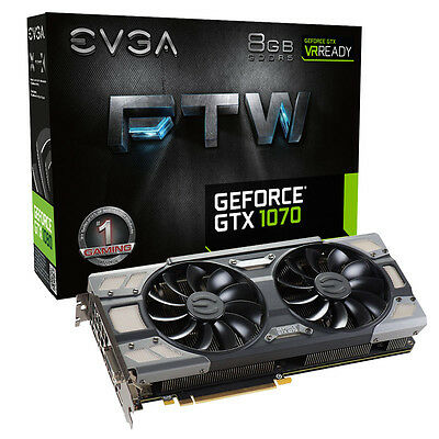 EVGA GeForce GTX1070 FTW Gaming ACX 3.0 8GB