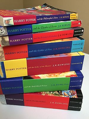 Harry Potter Used Book Set 1-7 Bloomsbury Raincoast J.K Rowling Softcover