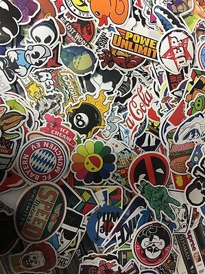 3x Random Skateboard Stickers bomb Vinyl Laptop Luggage Decals Dope Sticker Lot