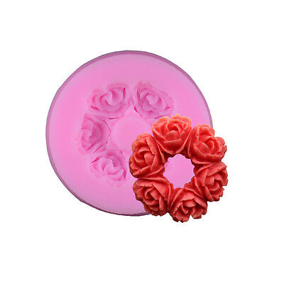 Moule Silicone 3D Couronne Roses Chocolat, Glacon, Fimo, pate a sucre patisserie