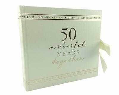 "50th Golden Wedding Photo Album 4x6"" with ribbon WG71150"