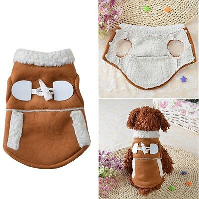 Dog Pet Winter Clothes Warm Soft Jacket Coat Apparel Puppy Fleece Outfit Costume