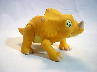 """Vintage 1996 Land Before Time Cera Triceratops Dinosaur Figure Poseable Toy 7"""""""