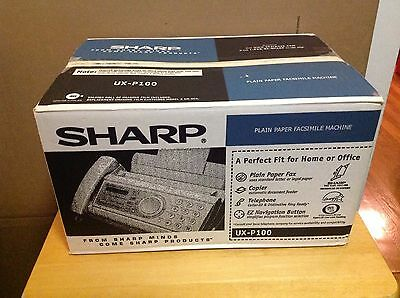Sharp UX-P100 Plain Paper Fax - Brand New In Sealed Box