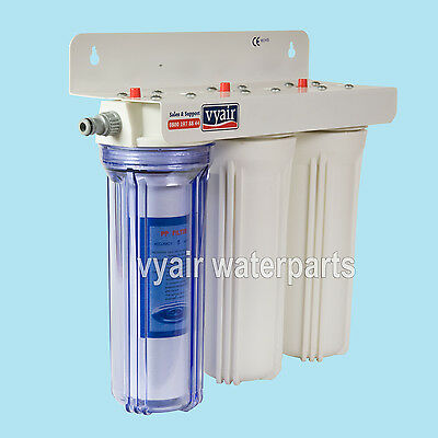 "Pond Dechlorinator Water Filter 3 Stage 10"" Filters"