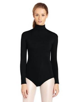Adult Long Sleeve Turtleneck Leotard; in black
