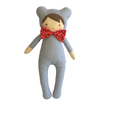 Alimrose Baby In Bear Suit 43Cm Blue Dottie