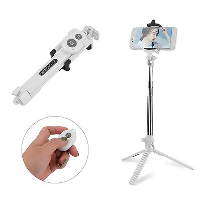 Extendable Selfie Stick Bluetooth Remote Shutter with Tripod For iPhone 7 Plus Y