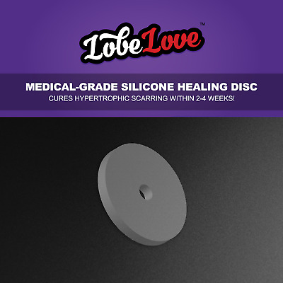 LobeLove™ Healing Piercing Discs | No Pull On Your Jewellery | Hypertrophic Scar
