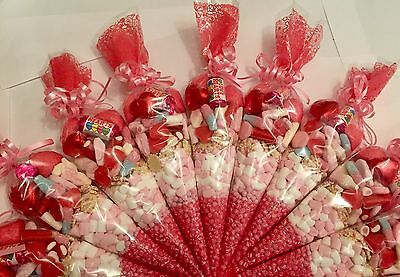 Large Pre filled Party Bags Sweet Cones - (Halal Selection Available)