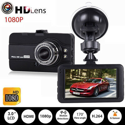 3'' Full HD 1080P Car Dash Cam Video Camera Recorder DVR Night Vision G-Sensor