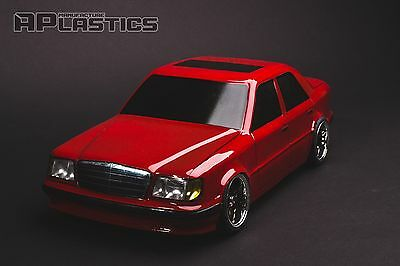 NEW Unpainted APlastics RC Drift car body 1:10 Mercedes-Benz E 124 style