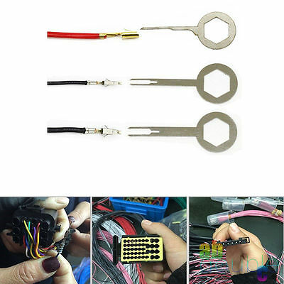 3X Car Electrical Wiring Crimp Connector Pin Key Terminal Removal Hand Tool Kit