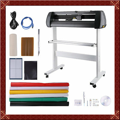 "34"" Vinyl Cutter Sign Cutting Plotter W/ Stand Design Cut Printer Sticker Oy01"
