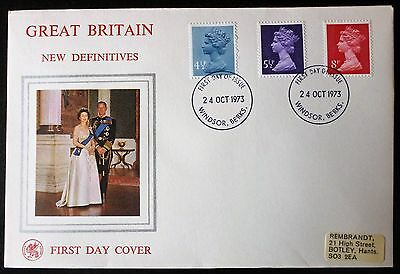GB 1973 New Definitive Stamps WESSEX FIRST DAY COVER windsor