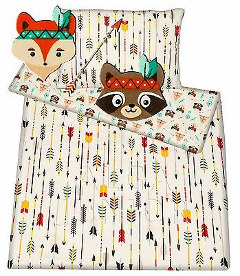 Baby toddler cot/ cot bed set duvet cover pillowcase 100% cotton Indian arrow