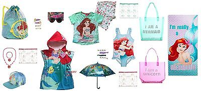 Girls Ariel Little Mermaid Disney Princess Beach Towel Poncho Bag Hat Sunglasses