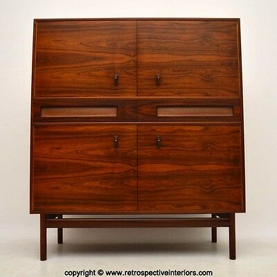 ROSEWOOD RETRO DRINKS / COCKTAIL CABINET BY McINTOSH VINTAGE 1960's