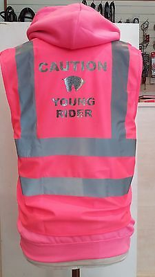 Childs Caution Young Rider Hi-Viz Safety Vest Equestrian. High Viz