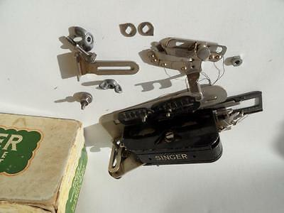 vintage singer sewing machine button hole attachment in box