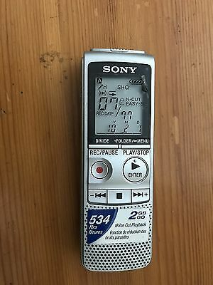 SONY ICD-BX800 Digital Voice Recorder / Dictaphone - 534 Hours 2GB SAME DAY POST