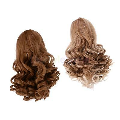 MagiDeal 2pc Deep Curly Wig Heat Safe Hair for 18'' American Girl Doll #1+#3