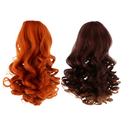 MagiDeal 2pc Deep Curly Wig Heat Safe Hair for 18'' American Girl Doll #5+#6