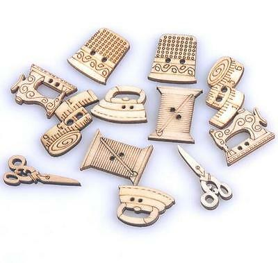 Mixed Natural Sewing tool wooden Handmade Buttons Scrapbooking Craft decoration