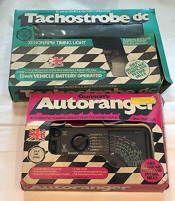 Vintage Gunson's Collection Of Tachostrobe Dc 12 Volt And Autoranger Car Tester