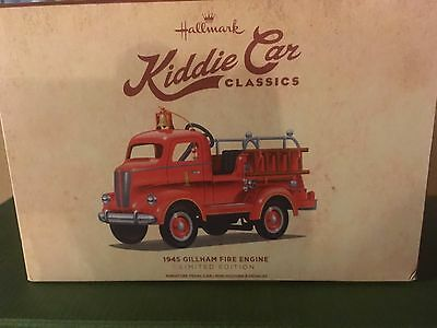 Hallmark Kiddie Classics Gillham 1945  Fire Truck New and Mint Limited Edition