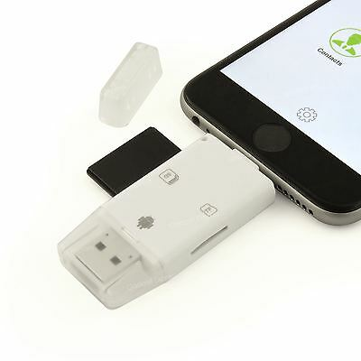 SD / Micro SD TF Card Reader Writer Adapter for iPhone iPad iPod Touch