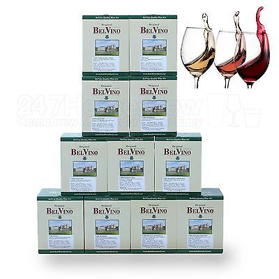 BelVino 7 Day Wine Making Kits. Makes 23L Fruit Included