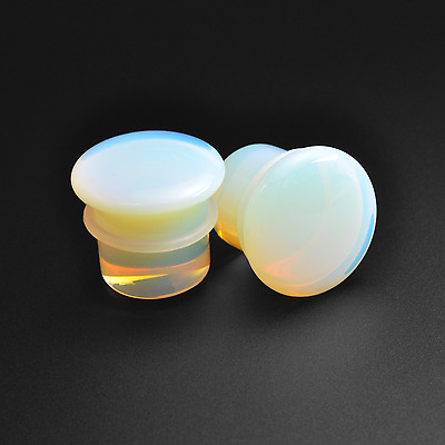 Opalite Stone Plugs | Single Flare | Convex | Sizes 3mm - 16mm | Stretchers