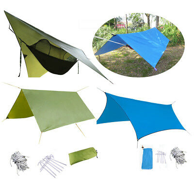 Practical Waterproof Military Outdoor Camping Tent Tarp Sun Shelter Rain Cover