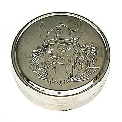 Snus! Snus Can - Tabakdose, Snusdose In Steel The Viking! Hand Made In Sweden!